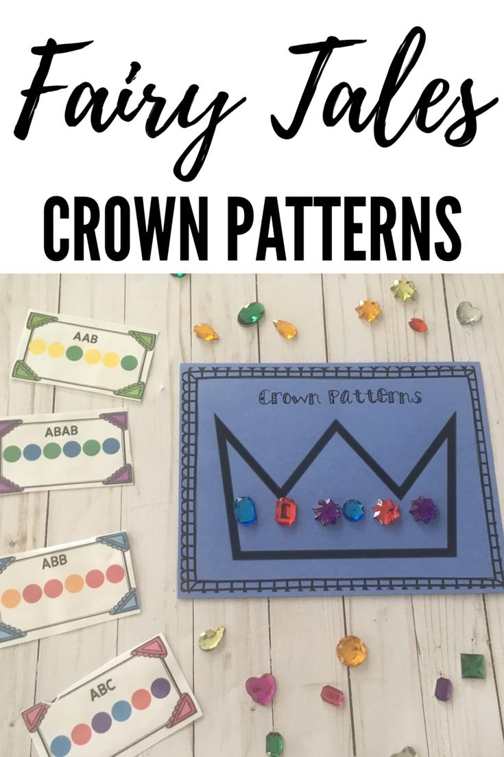 Fairy Tales Crown Patterns Fairy Tales Preschool Activities Fairy Tales Preschool Fairy Tale Math [ 1102 x 735 Pixel ]
