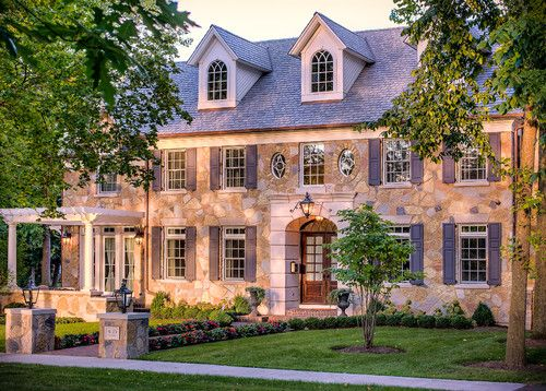 Stone Colonial Residence Schwarz Lewis Design Group Inc