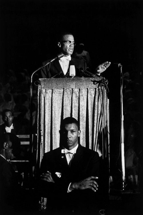 """""""life:  May 19, 1925: Malcolm X is born. In 1960, LIFE magazine assigned Arnold, who died in January 2012 at the age of 99, to document the days and nights of Malcolm X, the controversial and intensely charismatic public face of the Nation of Islam. For nearly a year, she followed the thug-turned-devout Muslim and activist from Washington to New York to Chicago. (Eve Arnold—Magnum) See Eve Arnolds photographs of Malcolm X here.  """""""