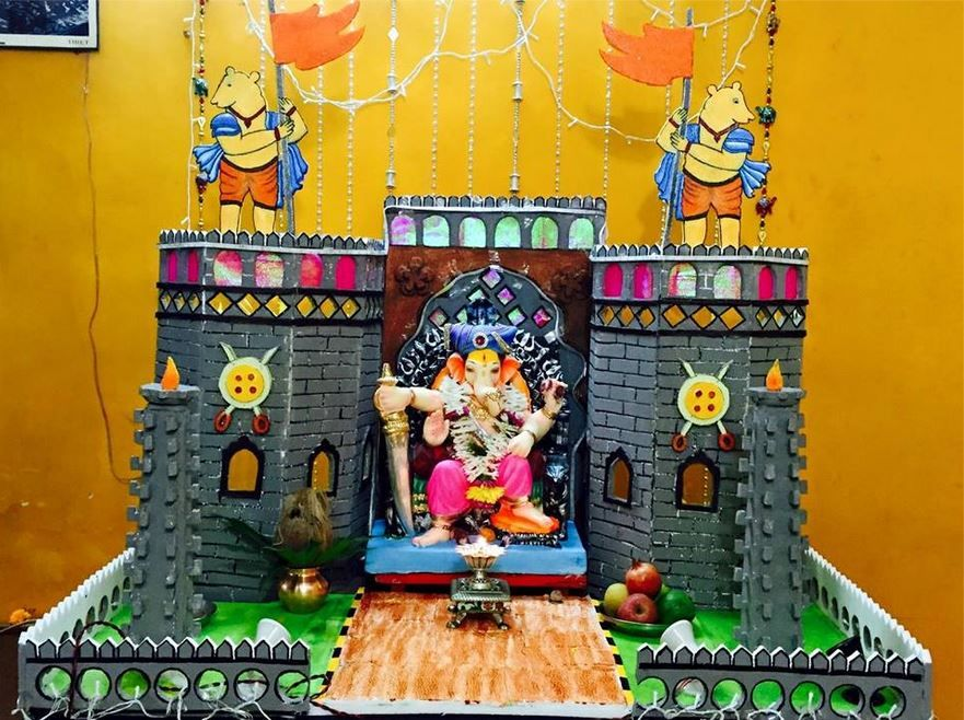 ganpati decoration ideas at home with theme ganpati