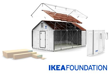 300 house impact innovation ikea 39 s refugee shelter for the unhcr now it 39 s here the ikea. Black Bedroom Furniture Sets. Home Design Ideas