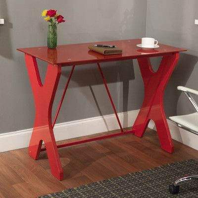 Gavin Computer Desk for Sale | Wayfair.  This red desk would be fun in Matt's room with the tall red dresser we already own.