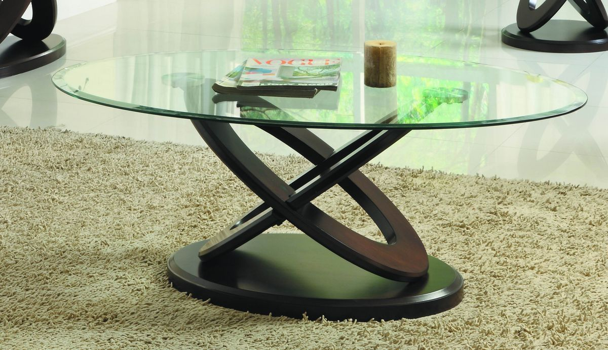 Firth II Cocktail Table with Glass Top 3401W-30 Free Shipping