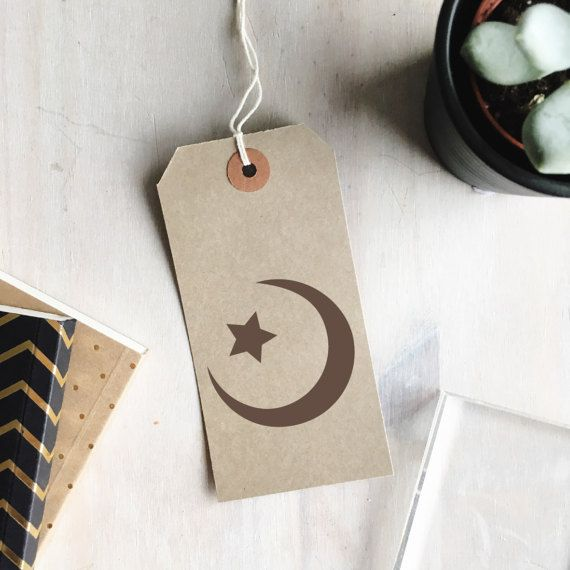 Star And Crescent Moon Stamp Star And Moon Symbol Islamic Stamp