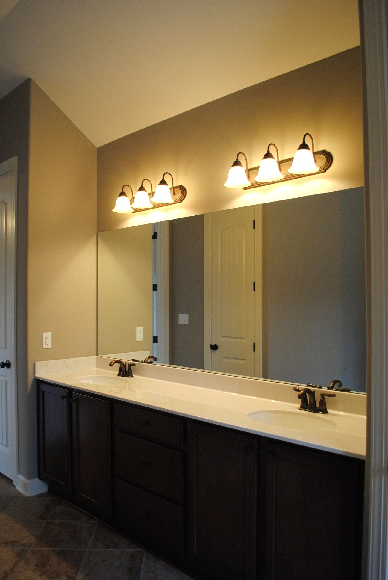 Bathroom light placement over mirror contemporary decor bathroom light placement over mirror mozeypictures Image collections