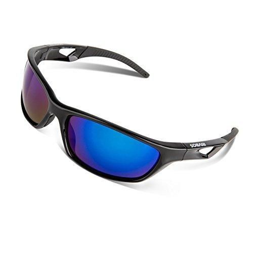 8f5b1d534b RIVBOS Polarized Sports Sunglasses Driving Glasses for Men Women Tr90  Unbreakable Frame for Cycling Baseball Running Rb831 (Black Black Mirror  Lens)
