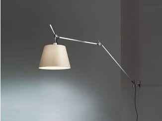 Lampada da parete in alluminio e carta pergamena tolomeo parete
