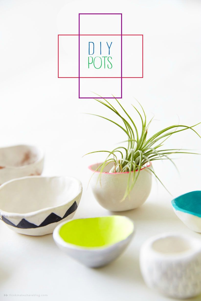 Making Diy Pinch Pots With Crayola Air Dry Clay Think Make Share Clay Pinch Pots Crayola Air Dry Clay Diy Air Dry Clay