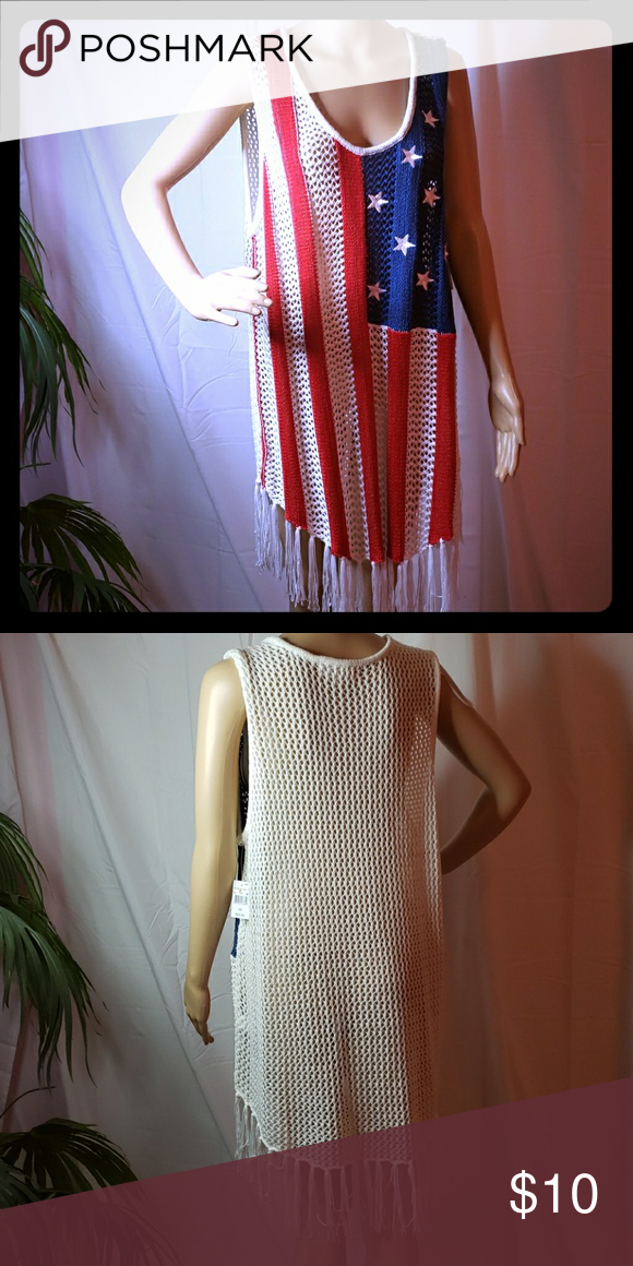 b332bdec7f Cloud chaser cover up Red white and blue in the front swim suit cover up 2x  Cloud Chaser Swim Coverups