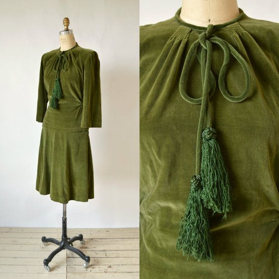 1930s Velvet Suit Vintage Rk Originals Women S By Dalenavintage
