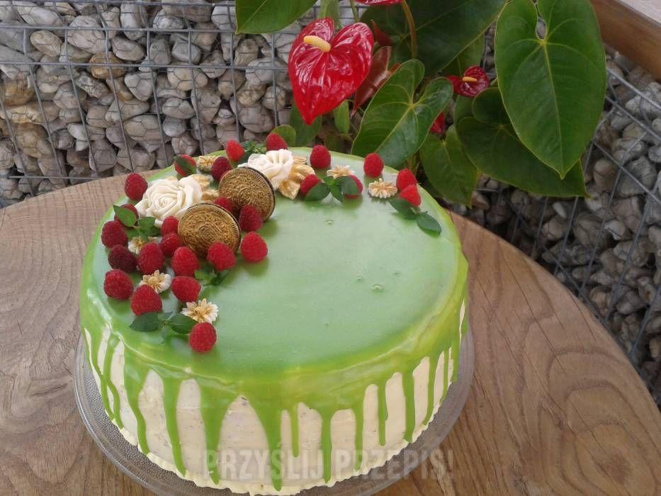 Tort Imieninowy Z Polewa Ciasta I Ciasteczka W 2018 Pinterest