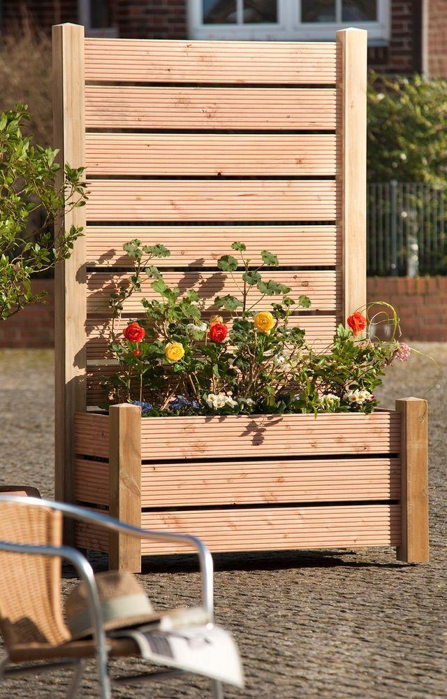 Mobiler Sichtschutzzaun Element Blumenkübel Windschutz