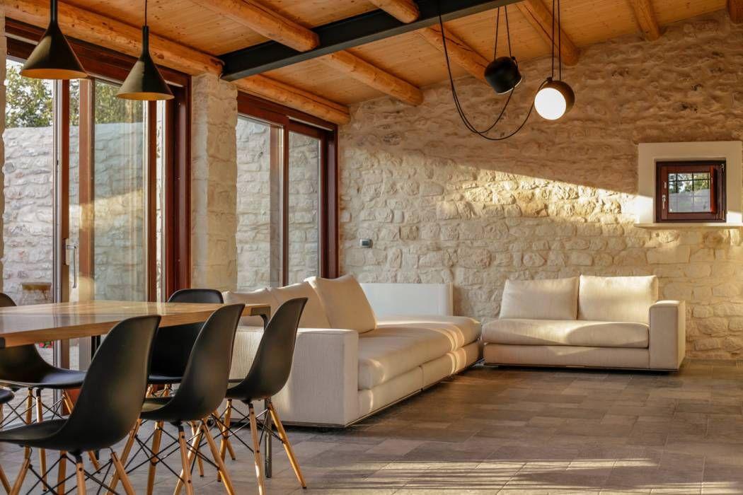 Soggiorno Rustico ~ Arredare un open space cucina soggiorno rustico 07 interior