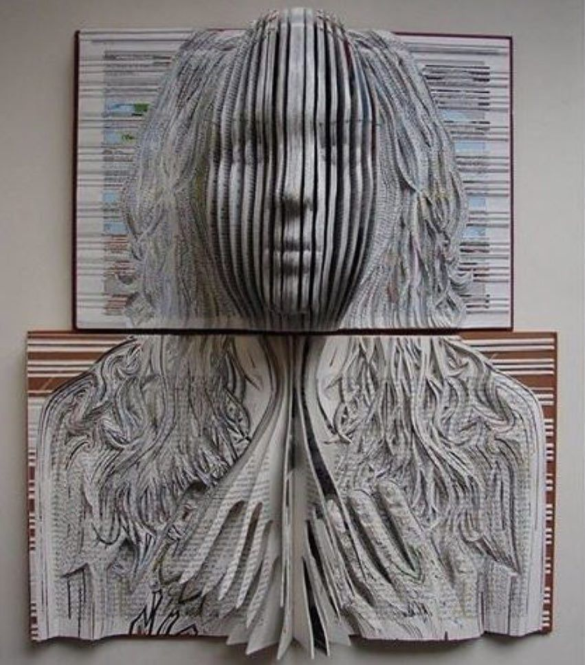 Found via @a.slice.of.art  Incredible book sculptures by @emmalloydart  Follow  Like  Comment  by thednalife
