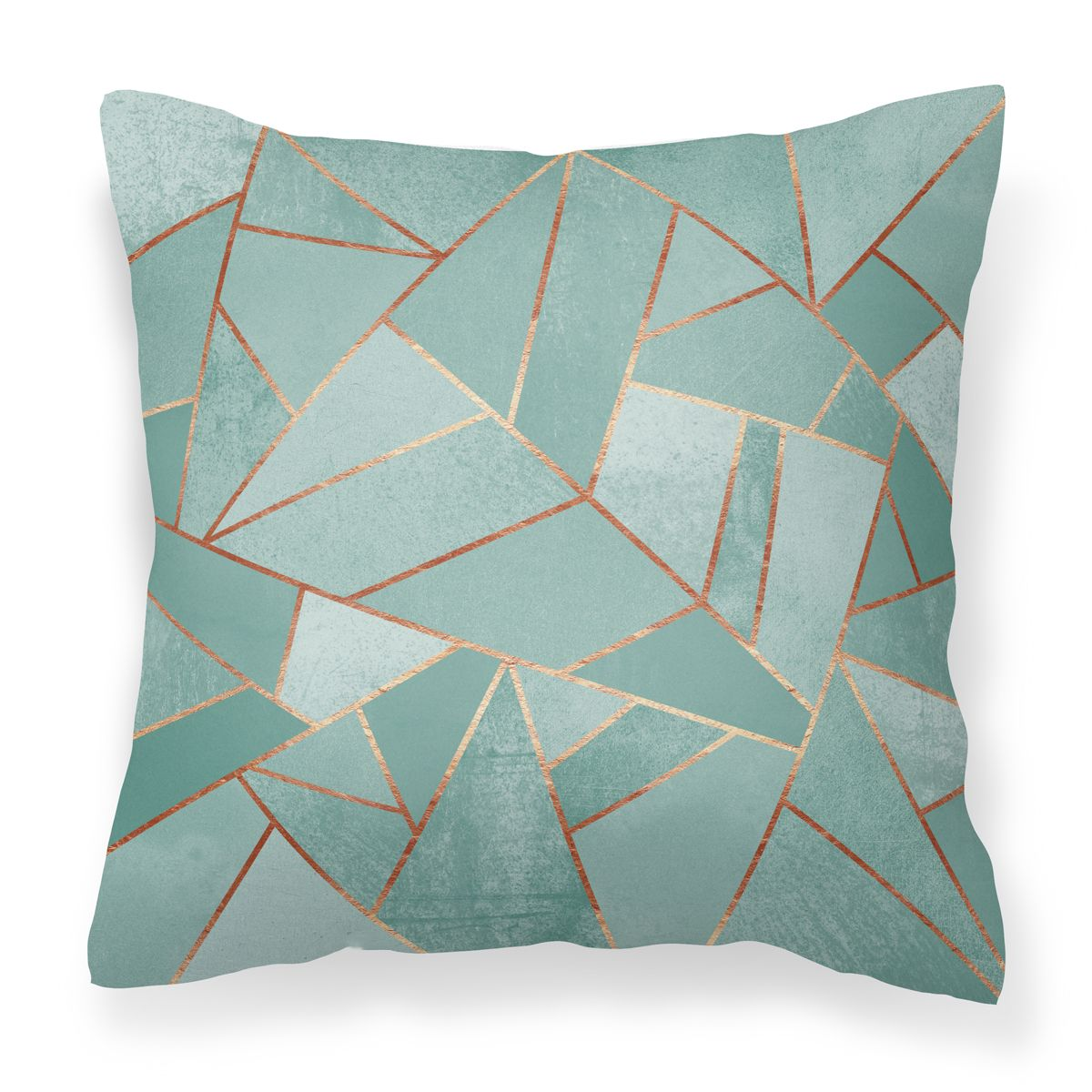 This plush vegan suede cushion cover features the artwork duck egg