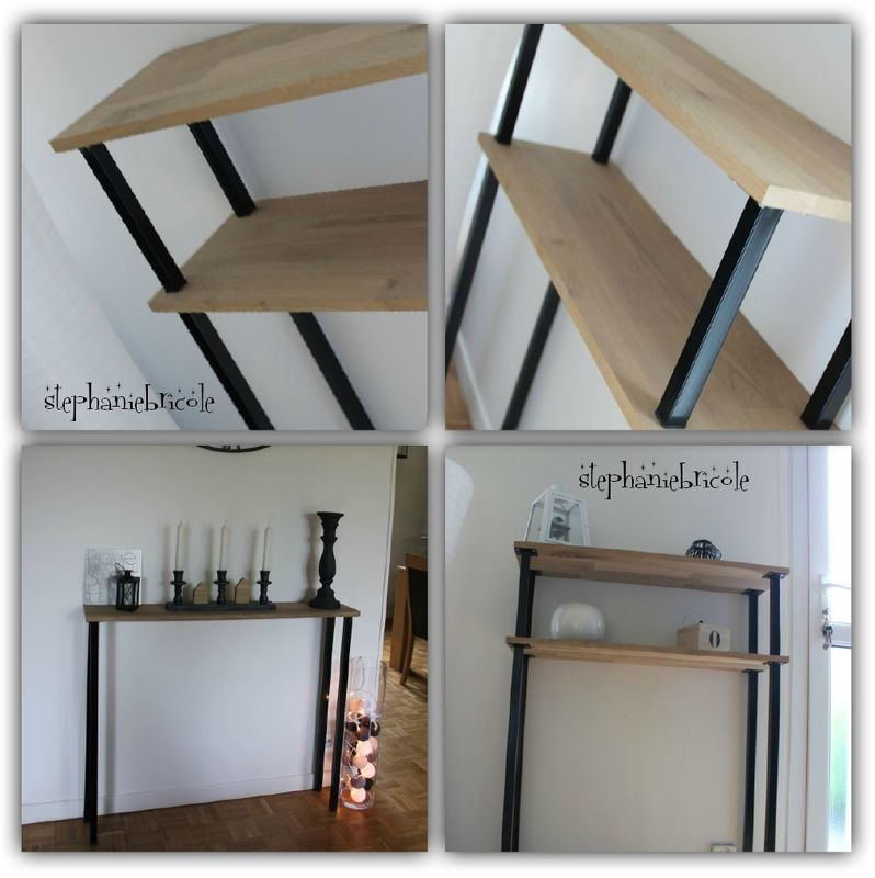 diy d co faire un meuble console au style industriel soi m me rapide et pas cher diy. Black Bedroom Furniture Sets. Home Design Ideas