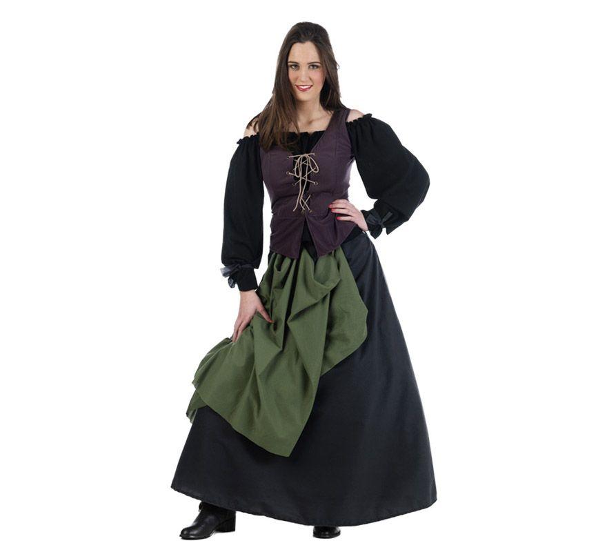 Disfraz de Tabernera o Posadera Medieval para mujer. Alta calidad ... 56468a9f5d55
