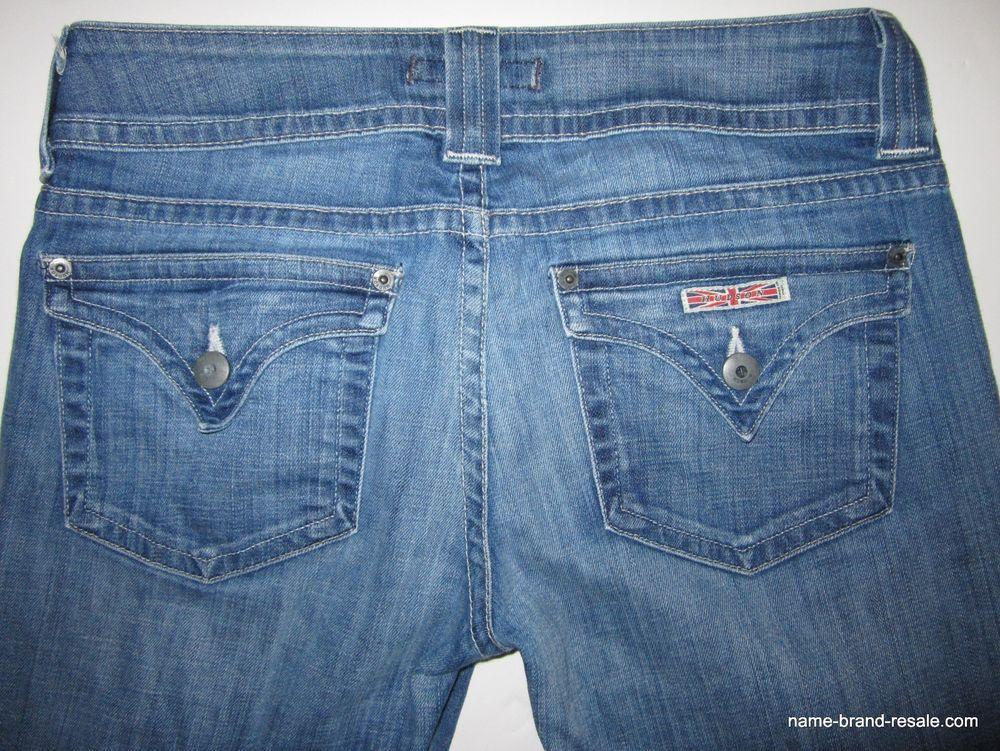 d80bec1c902 HUDSON JEANS Womens 29 x 33 SIGNATURE BOOTCUT Button Flap Logo Pockets $192  #HUDSON #SignatureBootCut
