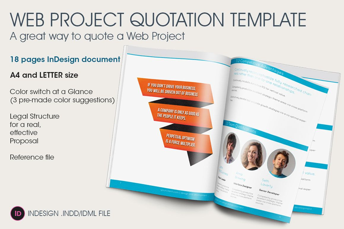 Web Project Quotation Template By Link On Creativemarket