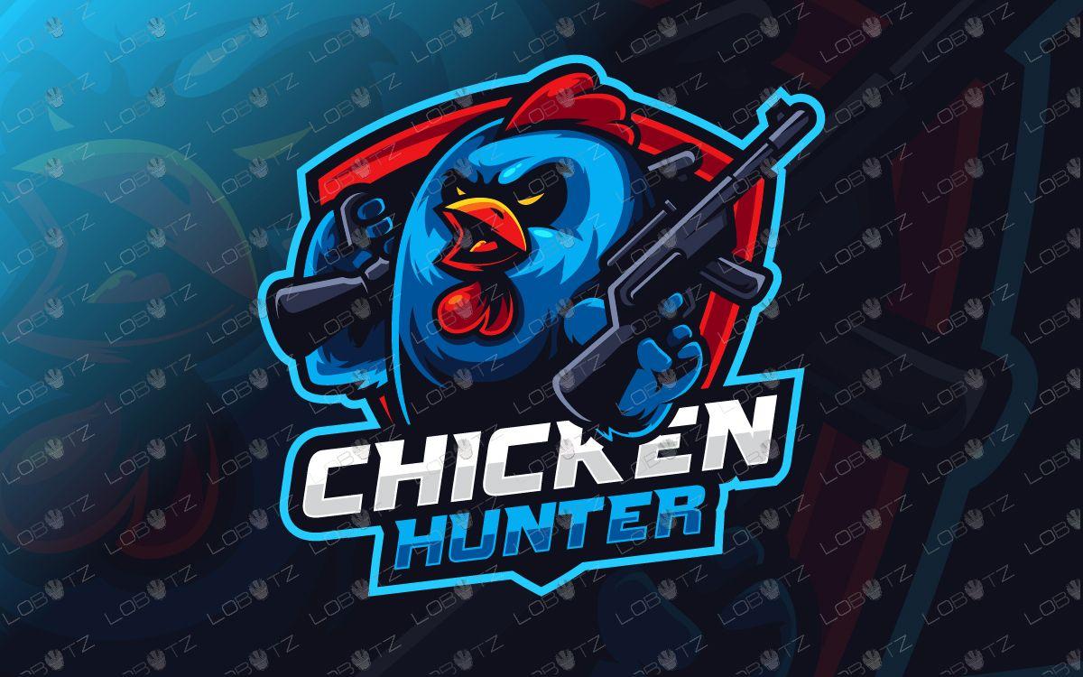 Pubg Hd Stickers: Chicken Hunter Logo Esports Esports Logo