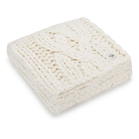 Ugg Throw Blanket Extraordinary Ugg® Oversized Chunky Cable Knit Throw Blanket In Natural  Chunky Design Decoration