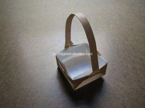 Origami square box with handle origami inspiration pinterest box origami square box with handle sciox Gallery