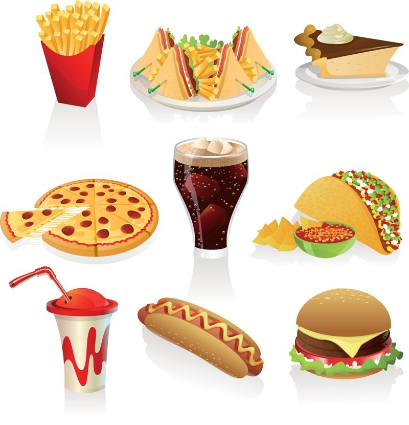 food clip art free downloads fast food clipart vector vector rh pinterest com fast food worker clipart fast food restaurant clipart