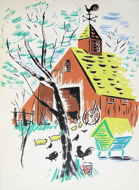 From The Horse Who Lived Upstairs by Phyllis McGinley, illustrated by Helen Stone, 1944