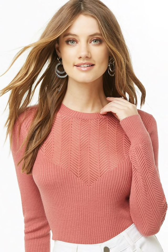 FN-WN-KNIT000142   Ribbed knit sweater, Knitted sweaters