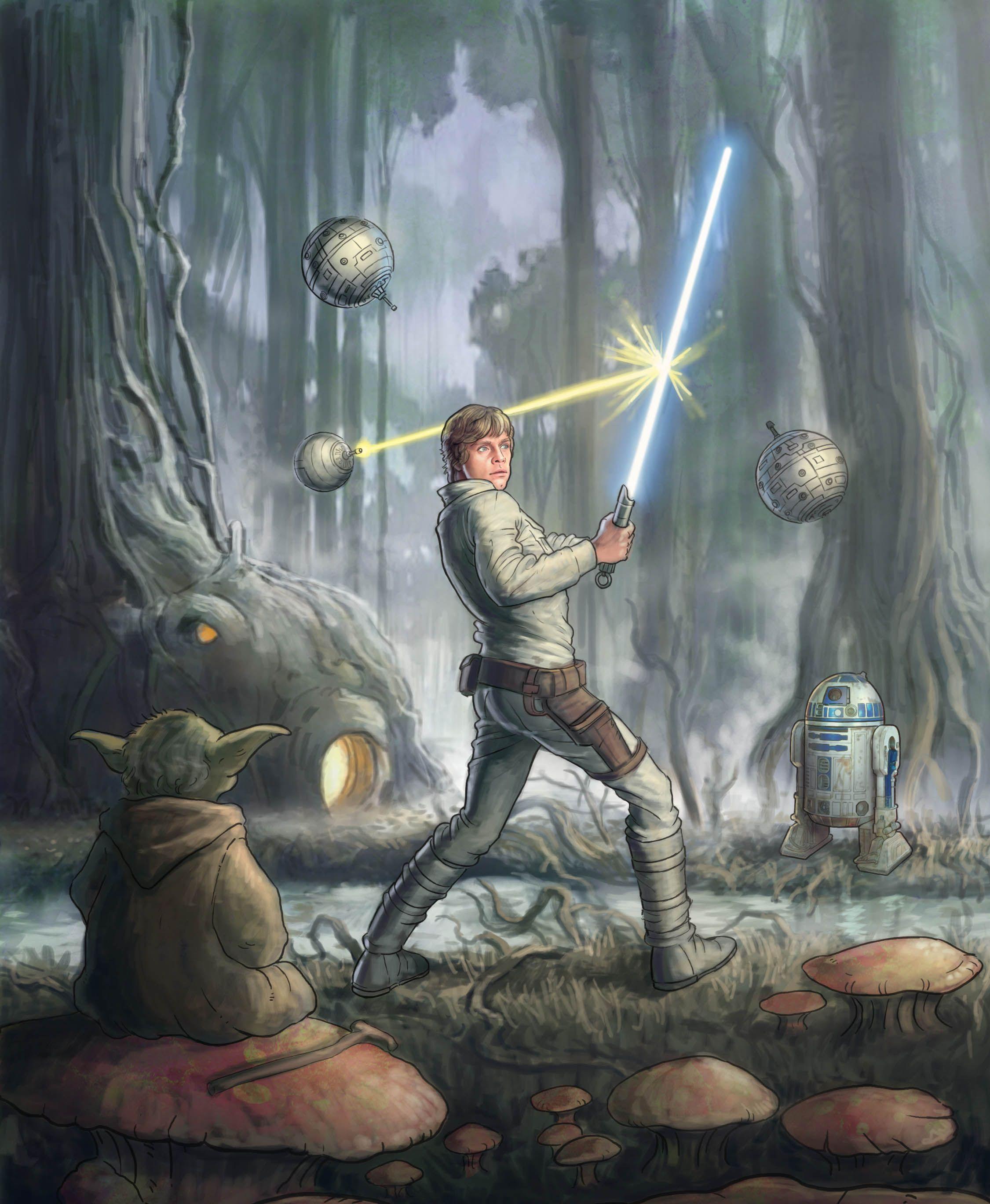 Luke Skywalker Star Wars Painting Star Wars Wallpaper Star Wars Art