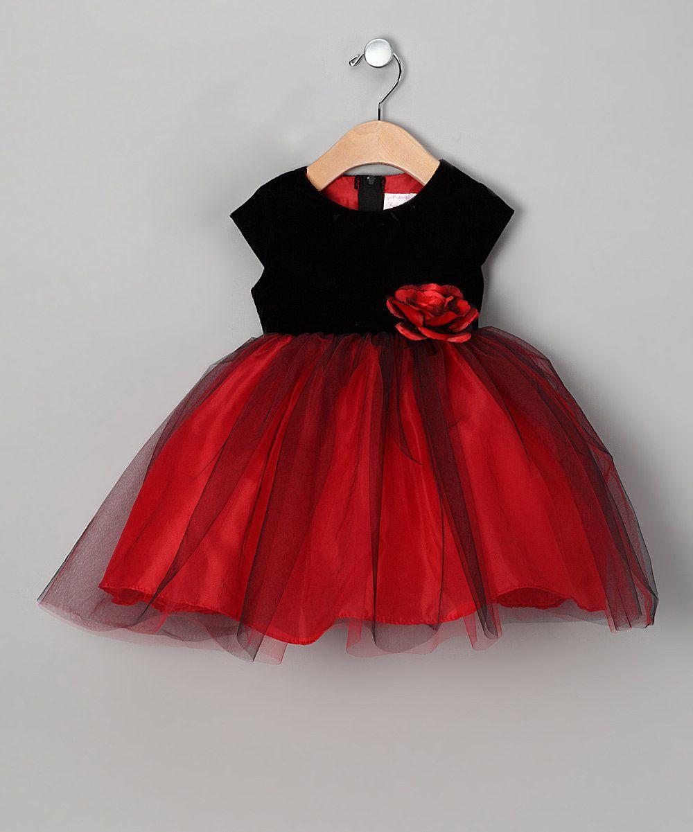 Black Red Velvet Dress Toddler Girls The Littles Toddler
