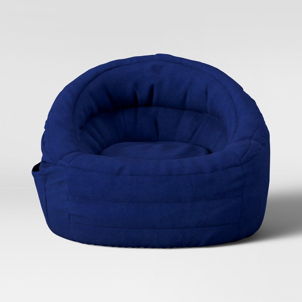 Swell Cocoon Bean Bag Chair With Pocket Navy Pillowfort Blue Bralicious Painted Fabric Chair Ideas Braliciousco