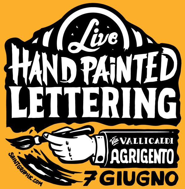 Hand painted lettering session on Behance