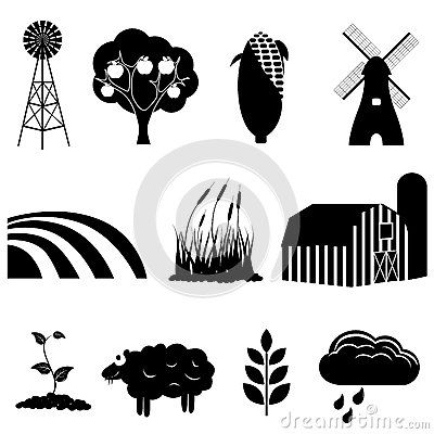 Farm And Agriculture Icons Agriculture Icon Set Farm