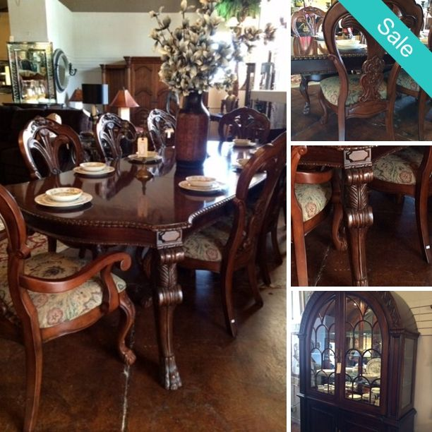 Designer Consignment · Dining Table   Table,w/ 8 Chairs,China Hutch,2x  Leafs Retails