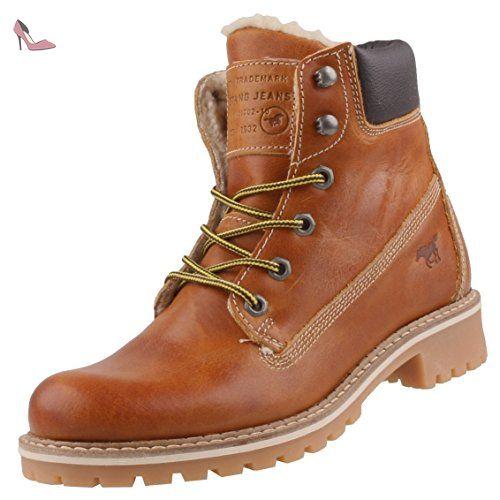 Cuir Chaussures 603 BottineEu Marronnier Mustang Femmes 41 2837 H2IDY9WE