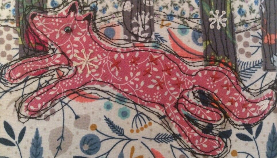 RaeBattesonArt copyright 2014 Embroidered Fox