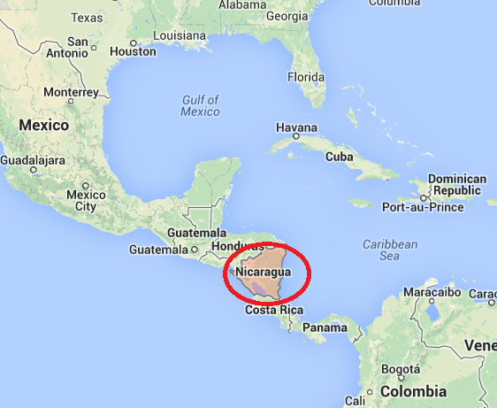 The Country Of Nicaragua Is In Central America And Has A Hot Wet - Country map of nicaragua