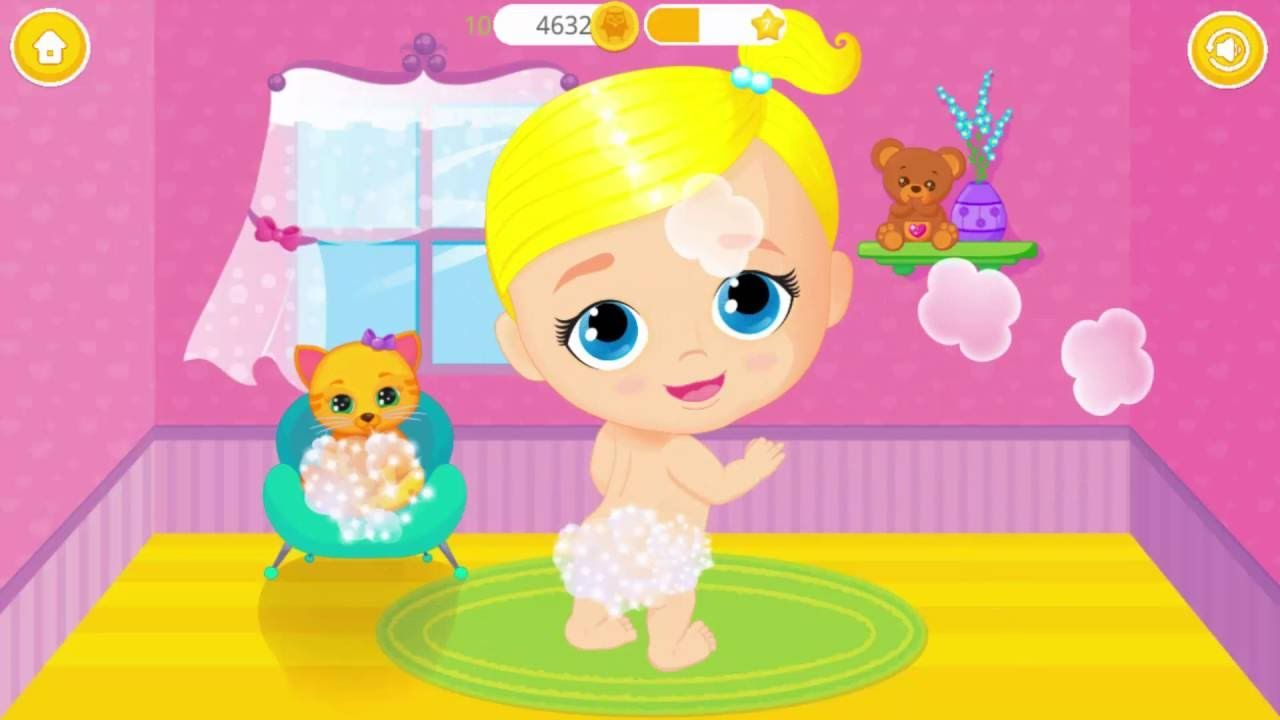 Baby Doll House Lily Kitty Kids Play Baby Care Games For Babies To