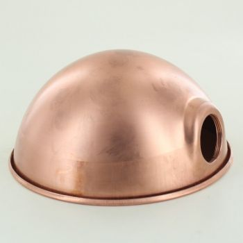 6-1/2in. Unfinished Copper Parabolic Shade with Uno Socket Thread