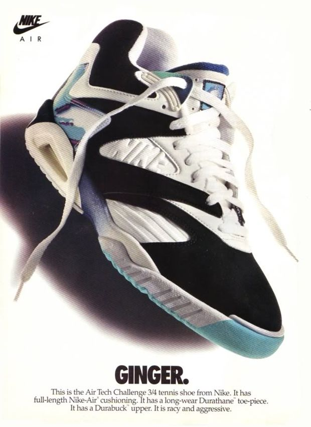 Nike Air Tech Challenge IV ad, 1992 in 2020 (met