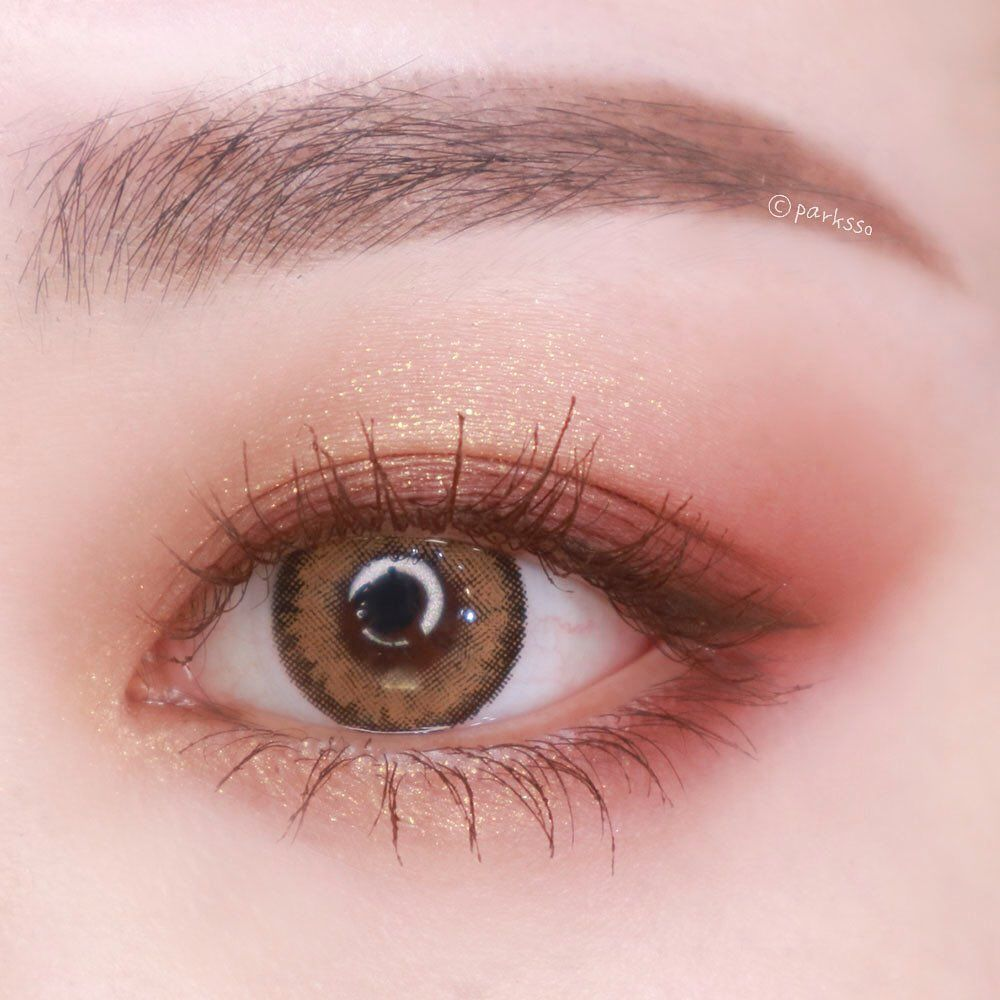 박쏘 On Instagram 어제 올렸던 입생 아이팔레트 리뷰에서 사용한 렌즈는 Lens Town Official 렌즈타운 로맨티 도쿄 피치브라운 색상이에 Asian Eye Makeup Korean Eye Makeup Asian Makeup