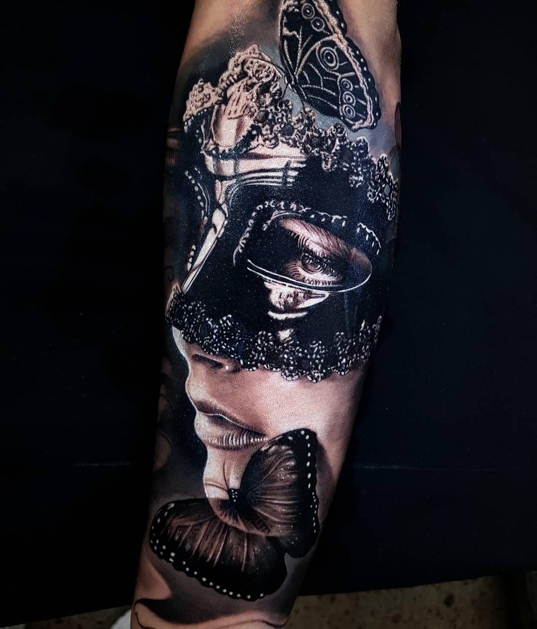 Portrait Realism By Benji Roketlauncha Ortega Tatuaze Rekawy Inspirujacy Tatuaz