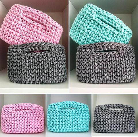 Pin de kryss complements en cestos de trapillo pinterest - Cesta de cuerda y ganchillo ...