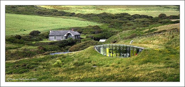 Malator, an earth-sheltered house in Wales, by architects Future Systems: Eco