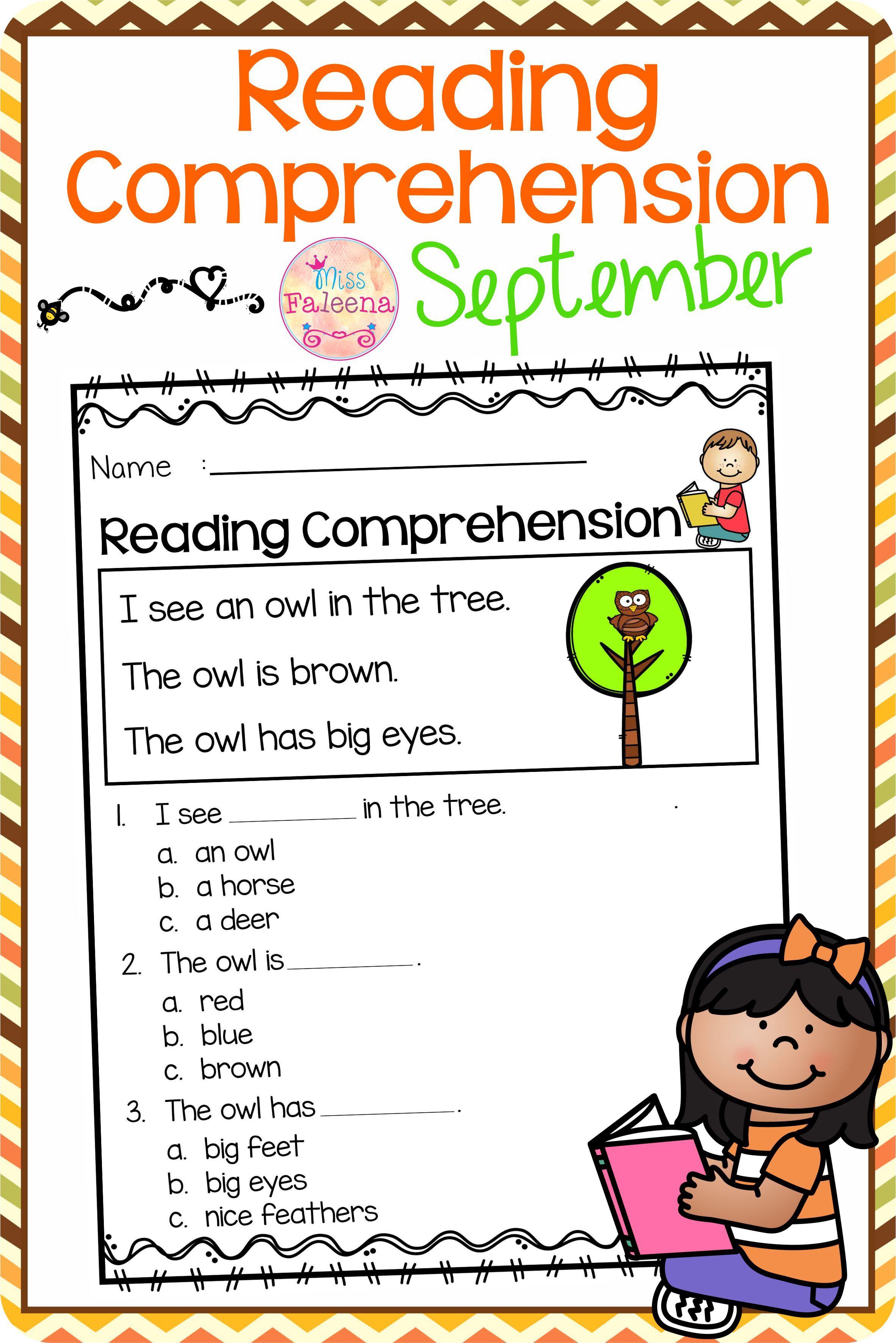 September Reading Comprehension Di