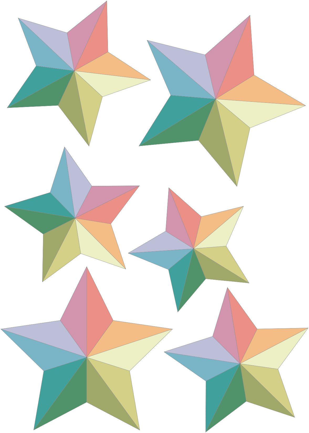 Etoiles-en-papier1.jpg (1177×1647)