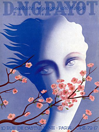 Beautiful surreal style advertising print for Dr Payot Cosmetics. 1940 http://www.vintagevenus.com.au/vintage/reprints/info/FAS476.htm