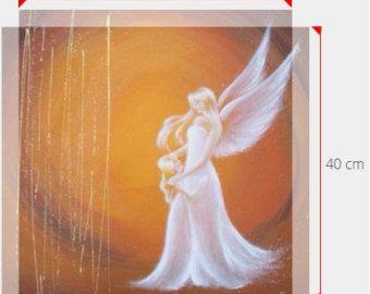 Título: magia de Angel   -tamaños: 16 x 16 pulgadas (40x40cm) o 16 x 24 pulgadas (40 x 60 cm) -limita la impresión de una de mis pinturas. It´s un lienzo impresión estirada en marco de madera. -Listo para no colgar, necesidad de un marco adicional!   Ángeles son las naturalezas de la luz, que pertenecen a un más alto mental dimensión. Tomar la fuerza de protección de los Ángeles a su hogar. Toman su fuerza cariño apoyo a su vida.  Ángel nos acompañe en nuestro camino e inspirar a cada uno de…