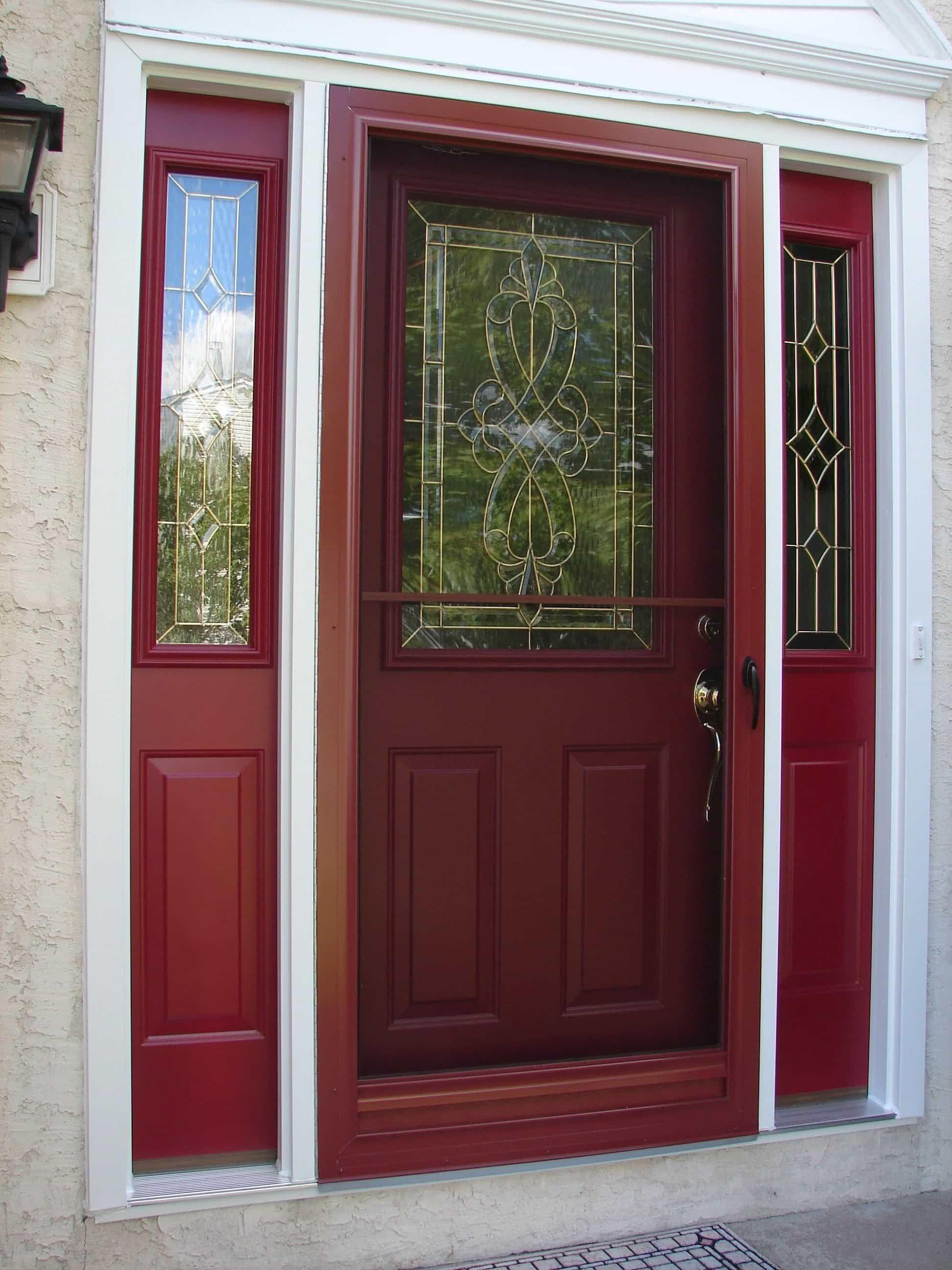 Glass storm doors glass storm doors painted front doors